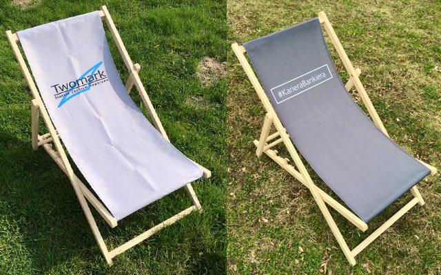 Leżaki reklamowe, dowolny nadruk