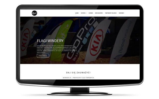 Strona winders.pl - Produkcja flag reklamowych